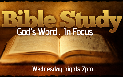 Bible Study Wednesdays 7 pm Topic: Christian With A Worldly Spirit 1 John 2:15-17