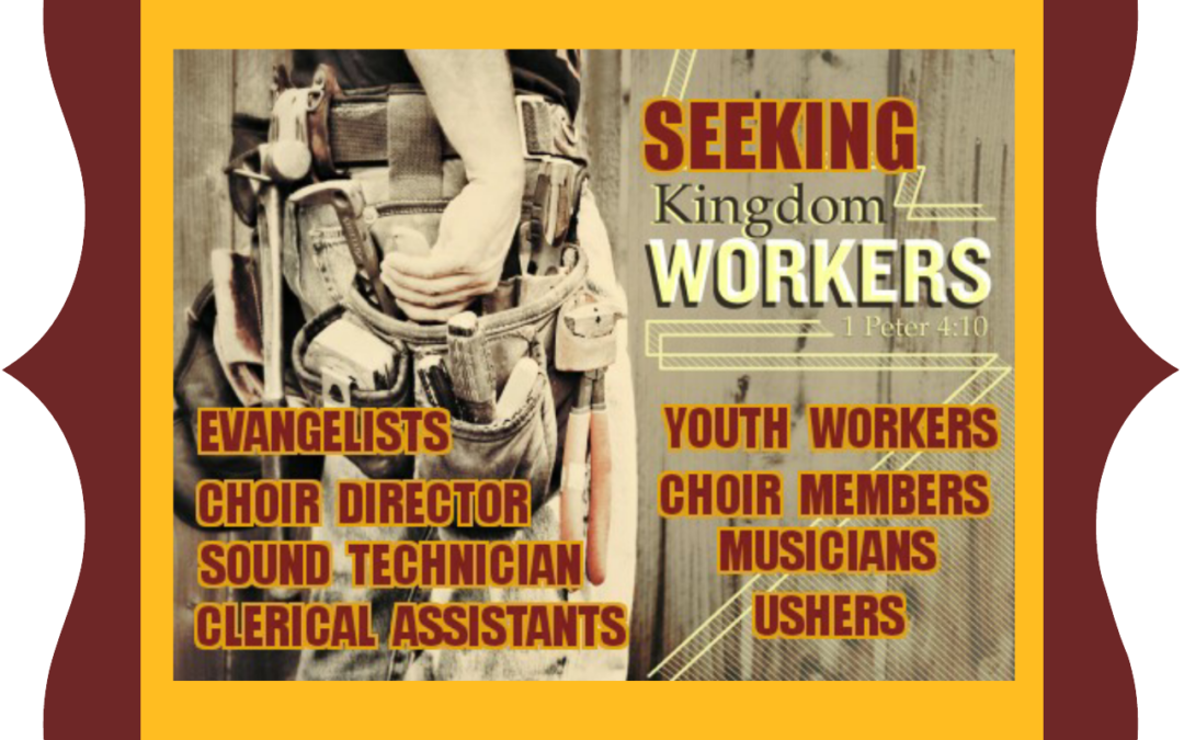 Seeking Kingdom Workers