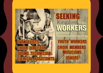 Seeking Kingdom Workers